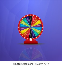 Wheel Of Fortune lottery luck . Casino game of chance. Win fortune roulette. Gamble chance leisure.