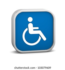 Wheelchair Accessible sign on a white background. Part of a series.
