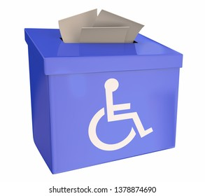 Wheelchair Disabled Person Symbol Disability Suggestion Box Comment Feedback 3d Illustration