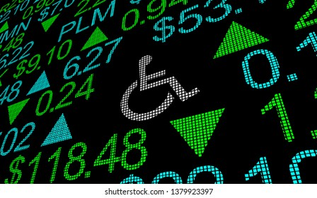 Wheelchair Disabled Person Symbol Disability Stock Market Exchange Business 3d Illustration