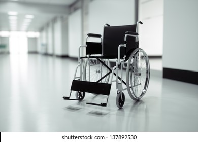 Wheelchair in a hospital - high quality render