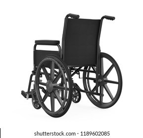 Wheelchair Isolated. 3D rendering