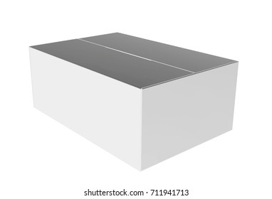 Whire Carton Mail Box Mockup for Design Project - Mock Up 3D illustration Isolate on White Background