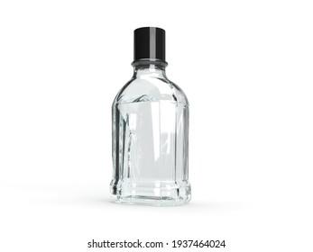 Whiskey Alcohol 3D Illustration Mockup Scene on Isolated Background