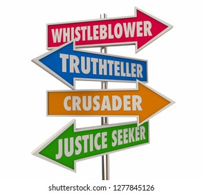 Whistleblower Arrow Signs Words 3d Illustration