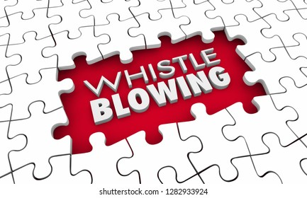 Whistleblowing Crusader Truth Teller Puzzle Pieces Hole 3d Illustration