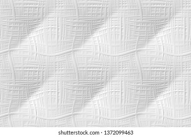 White 3d seamless pattern, wavy background