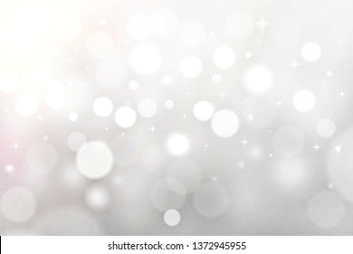 white abstract background .bokeh blurred beautiful shiny lights Christmas
