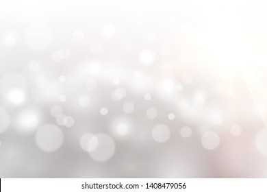 white abstract background bokeh blurred beautiful shiny lights Christmas