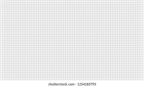 White abstract background with checks texture. Pale grey crossed lines. Wide screen pattern, in frame.