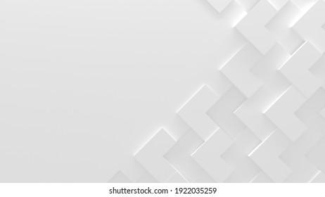 Arrière-Plan Blanc Abstrait Avec Espace pour Copie (Illustration 3D)