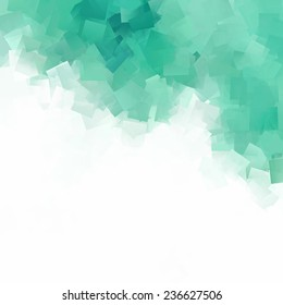 white abstract background green square paper texture