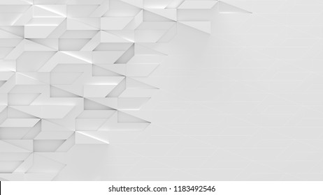 White Abstract Background With Space For Text (3D Illustration)