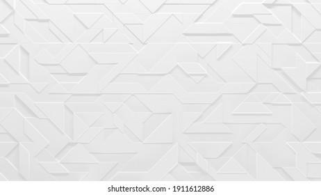 Motif abstrait blanc (Illustration géométrique 3D)