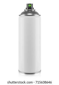 White aerosol spray can isolated on white background 3d