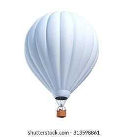 white air balloon 3d illustration