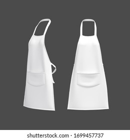 White aprons, apron mockup, clean apron, 3d rendering, 3d illustration