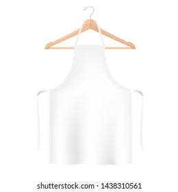 White Aprons Isolated White background