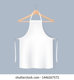 White Aprons Mockup Isolated Grey background