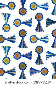 White background with Argentine cockades with May sun