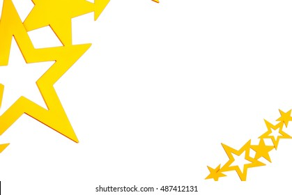 White background with gold stars