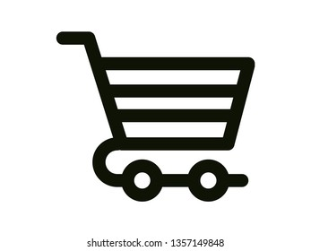 WHITE BACKGROUND WITH ICON PURCHASE SHOPPING CART