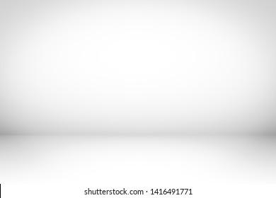 White Background studio. Gradient background