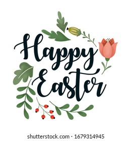a white background that says happy easter
