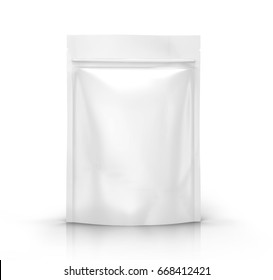 white blank 3d rendering zipper pouch for design element use, isolated white background side view