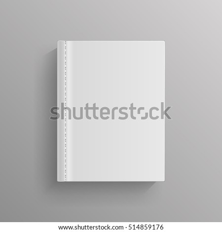 white blank book cover template book stock illustration 514859176