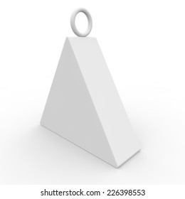 White blank box of the triangular form for products, gifts and other goods