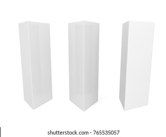 White Blank Empty Paper Trifold Table Stock Illustration - Tri fold table tent