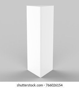 blank table tent 3 d render table stock illustration 1035952633
