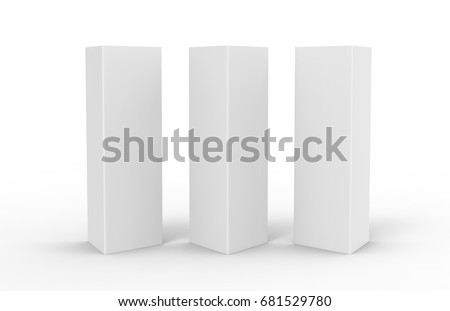 White Blank Empty Paper Trifold Table Stockillustration 681529780 ...