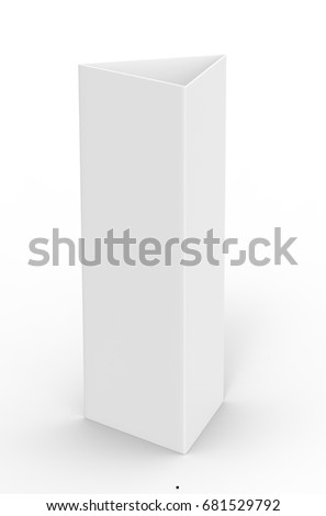 white blank empty paper trifold table stock illustration 681529792