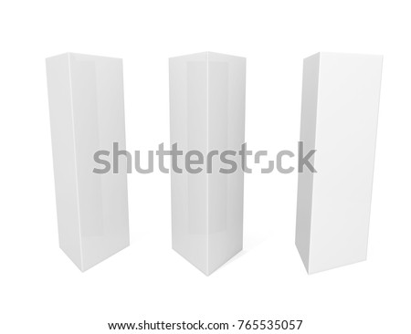 white blank empty paper trifold table stock illustration 765535057