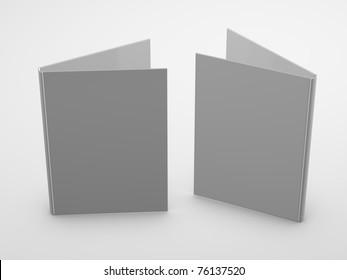 White Blank Folders