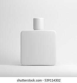 White blank fragrance parfume bottle Mockup. 3d rendering