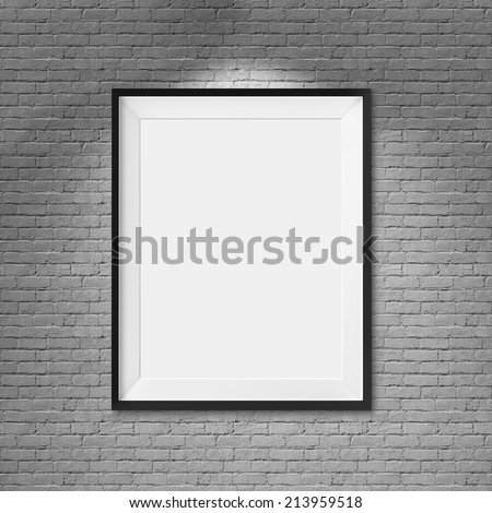 cc7acb9b9d1 Royalty Free Stock Illustration of White Blank Frame On Brick Wall ...