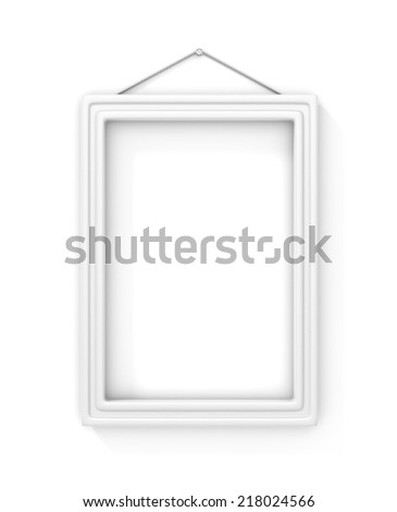 87660f836c0 White Blank Frame On Wall Isolated Stock Illustration - Royalty Free ...