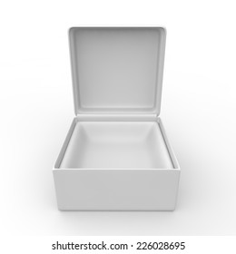 White blank gift box for rings and other items