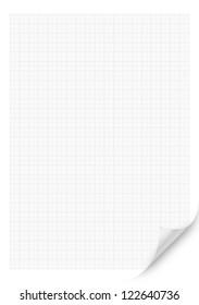 White Blank millimeter Curved Corner paper