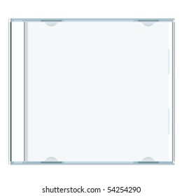 White blank music cd case with room to write your own text