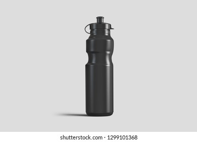 White blank plastic Sipper Bottle for Mock up and template design. 3D rendering