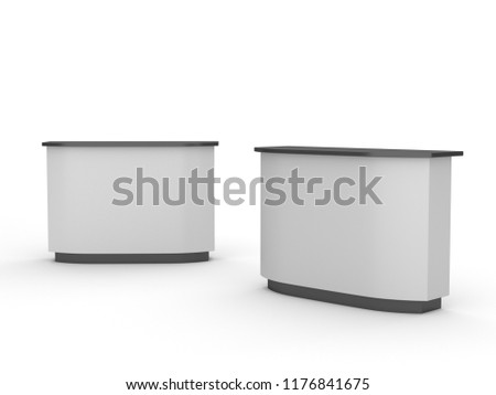 Exhibition Stand Information : Royalty free stock illustration of white blank reception information