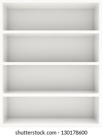 White blank shelf