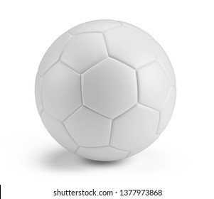 White blank Soccer Ball isolated on white background. 3d rendering