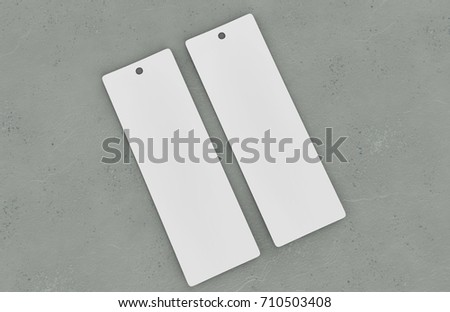 white blank tag bookmark template design stock illustration