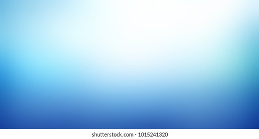 White blue empty background. Simple blurred texture. Undersea abstract illustration. Water glow defocused banner.