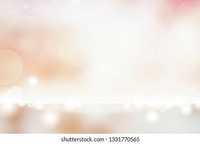 White bokeh textured plain product background